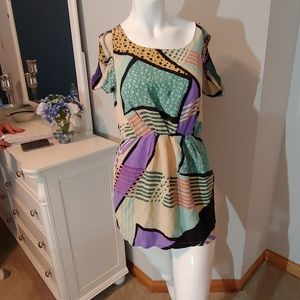 Womens size 8 Line & Dot dress multi color